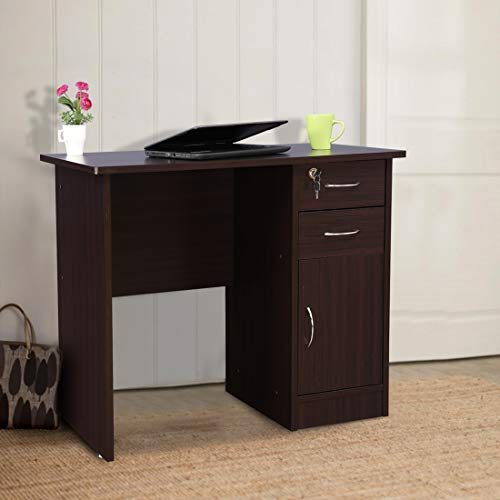 HomeTown Simply Engineered Wood Study Table in Walnut Colour