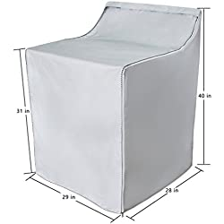 [Mr.You]Washer/Dryer cover For outdoor for top-load and front load waterproof dustproof Moderately Sunscreen Over 5 years of service life Thicker Silver Coated W29D28H40in