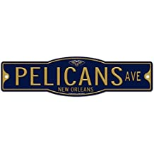 WinCraft New Orleans Pelicans Basketball Plastic 4 x 17 Street Sign