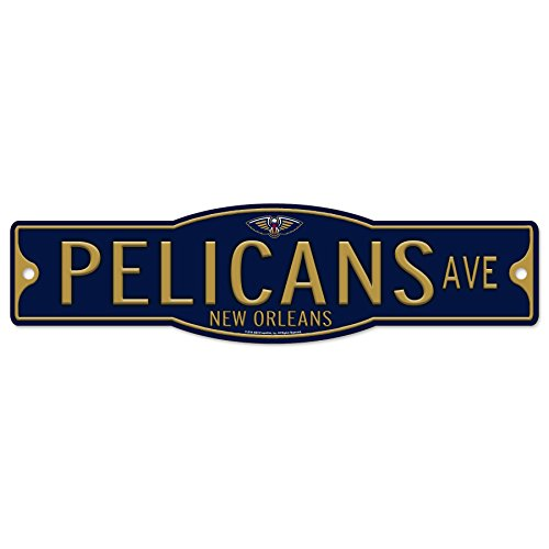 WinCraft New Orleans Pelicans Basketball Plastic 4 x 17 Street Sign by WinCraft