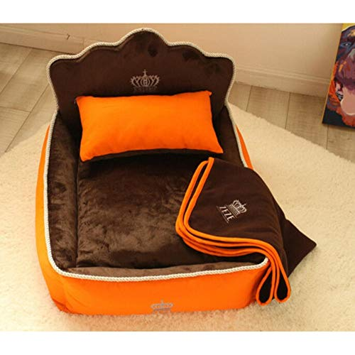 Sproud Luxury Princess Pet Bed with Pillow Blanket Dog Bed Cat Bed Mat Sofa Dog House Nest Sleep Cushion Kennel Mascot,B,36x53cm ()