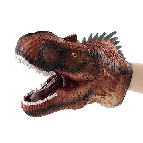 Birdfly Dinosaur Costume T-rex Headgear Mask and Dinosaur Hand Puppet Role Play Realistic Tyrannosaurus Rex Head Gloves Soft Toy (Spinosaurus(Hand Puppet)) (Sugar Open Bowl Gold)