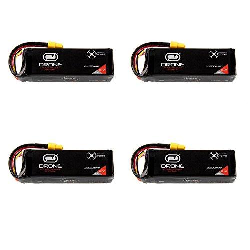 DJI Phantom Battery by Venom 20C 3S 2200mAh 11.1 LiPo x4 Packs with Venom XT60 Plug -