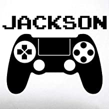 [Patrocinado] Video Game Custom Name Wall Decal - 0415 - Video Game Controller - Resembles Playstation Controller With Custom Name - Gamer - Teen