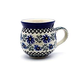 Polish Pottery 16 Oz. Bubble Mug – Blue Chicory Ceramika Artystyczna