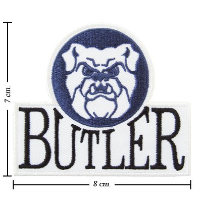 Butler Bulldogs Type 1 Embroidered Iron On Patch
