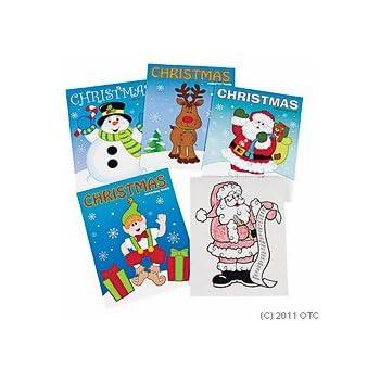 Fun Express Christmas Coloring Books Party Favor - 12 Pieces