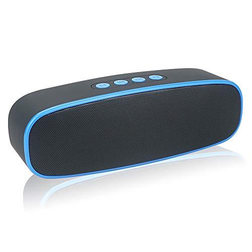HUSAN Altavoz inalámbrico Bluetooth con ranura para tarjeta AUX/USB/TF, altavoz estéreo portátil para exteriores con…
