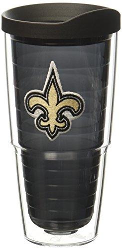 Tervis 1268451 NFL New Orleans Saints Primary Logo Tumbler with Emblem and Black Lid 24oz, Black