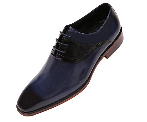 Asher Green Mens Genuine Leather Cap Toe Lace Up Oxford Dress Shoe With Wood-Like Sole, Style AG609 - Leather Sole Dress Shoes