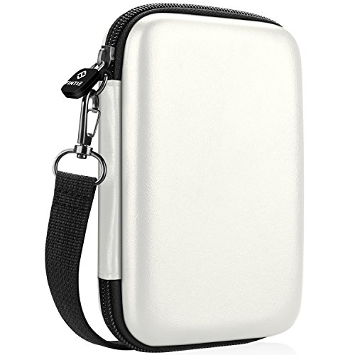 Fintie Protective Case for HP Sprocket Plus Photo Printer, Canon Ivy CLIQ/Ivy CLIQ+ Instant Camera Printer - Hard EVA Shockproof Portable Carrying Bag Storage Pouch (White)