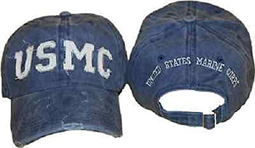 ball-cap-usmc-marine-corps-blue-washed-denim-style-hat-cap-cover-lic-by-usmc