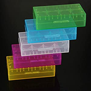 Lights & Lighting - 18650 Cr123a 16340 Battery Case Holder Box Storage Color Optional - Battery Case Plastic Holder Cases Storage Blue Vape Organizer Cr123a - 1PCs