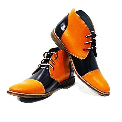 Modello Alatri - Handmade Colorful italiennes en cuir Shoes Chaussures Casual Formal Unique Vintage premium Bottes lacŽes Hommes Hauts