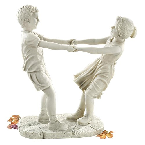(Design Toscano Little Girl and Boy Dancing Garden Statue: Large)