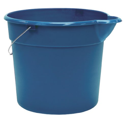United Solutions PA0013 Blue 4.5 Gallon (18 Quart) Plastic Utility Pail with Handle and Pouring Spout