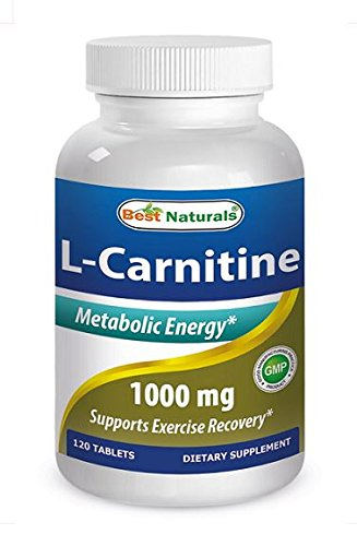 Best Naturals L-Carnitine Double Potency Tablets, 1000 mg, 120 Count