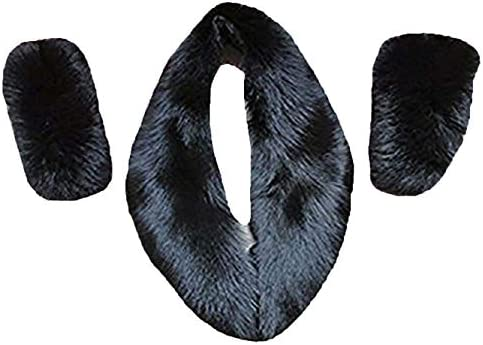Women Genuine Fox Fur Collar +2 Cuffs For Coat (long 80cm +2cuffs)