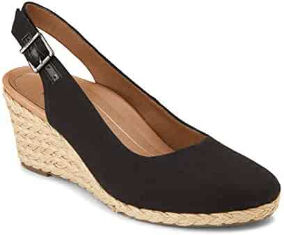 0fa9852c0 Vionic Women s Aruba Coralina Slingback Wedge - Espadrille Wedges with  Concealed Orthotic Arch Support