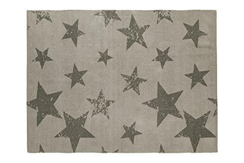 Lorena Canals C/PACK-VSTIO+CE Vintage Stern Elefant (Teppich + Kissen), grau