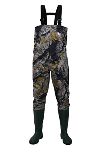 Toe Chest Wader (CaoBin Cleated Fishing Hunting Waders For Men With Boots 2-Ply Nylon/PVC Hunting Boot Waders (Camo, 12))