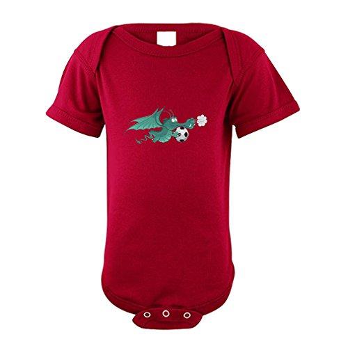 Cute Rascals Sea Horse Cotton Envelope Neck Unisex Baby Bodysuit One Piece - Garnet, Newborn
