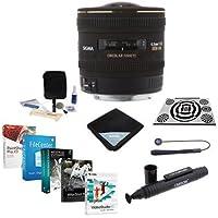 Sigma 4.5mm f/2.8 EX DC HSM Circular Fisheye AF Lens for Canon EOS USA - Bundle with LensAlign MKII Focus Calibration System, Lens Wrap, Cleaning Kit, Lenscap Leash II, Lenspen Cleaner, Software Pack