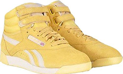 Reebok Freestyle 45739–Scarpe Hi R12, colore: giallo pastello, misura 40