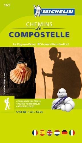 Saint Jean - Chemins de Compostelle 161 ; le puy-en-Velay ; Saint-Jean-Pied-de-Port Hiking Atlas (Michelin Zoom Maps) (English, French and German Edition)