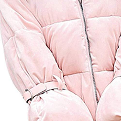 Cuello Para Chaqueta Cálido Corta Mujer Sólidos Gruesos Fuxitoggo Y Delgado Sintética Tops Larga De Párrafo Invierno Grueso Manga Abrigo Algodón Piel wIg6xffqd