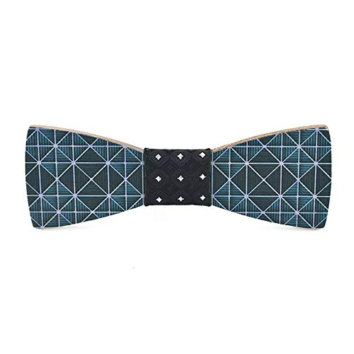 Wedding Bow Ties for Men Classic Handmade Design Fashion Men's Women's Wooden Bow Tie Inkjet Creative Wooden Wedding Suit Shirt Casual England Solid Wood Bow Tie Tuxedo's Bow Tie