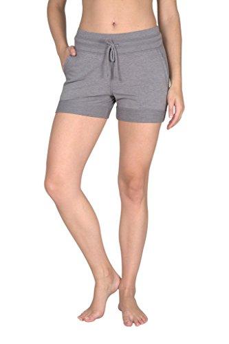 Yogalicious Activewear Lounge Shorts - Heather Grey - Medium (Travel Couch Reflex)
