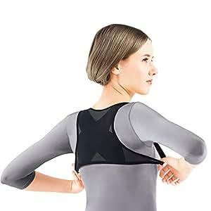 QETU Volver Corrector de la Postura de la Mujer Hombro de Apoyo Transpirable Chaleco corsé Ajustable Postura del cinturón de Hombro, jorobada Corrección de la Correa,S