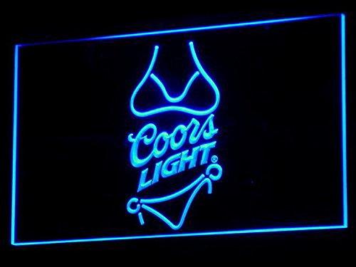 Bingirl Coors Light Beer Bikini Bar Pub LED Neon Sign Man...