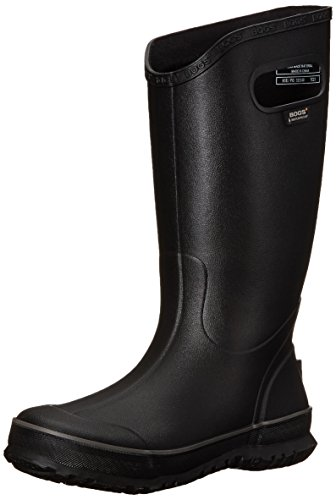 Bogs Men's Waterproof Rubber Rain Boot, Black, 12 D(M) US