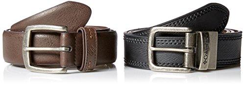 Columbia Men's 2 Belts in A Box Gift Set, Brown/Black, X-Lar