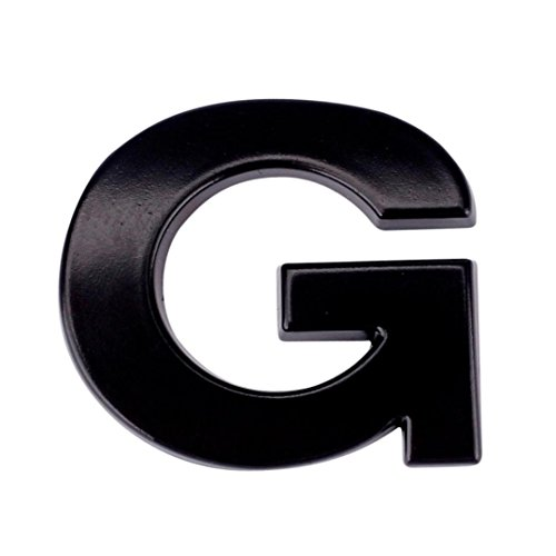Glumes 3D DIY Metallic Alphabet Sticker Emblem Letter Silver Badge Decal For Car Window Hood Side Mirror Rearview BK Car Luggage Decal Graffiti Patches Wall Stickers Skateboard Laptop Stickers (G)