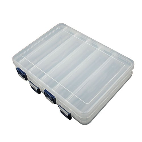 Dr fish big fishing lure tackle box 12 compartment heavy for Large tackle boxes for fishing