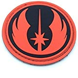 Star Wars Order of The Jedi PVC Airsoft Patch Rojo Negro