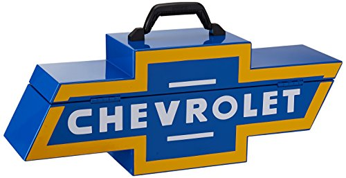 Chevy Tool Box (Goboxes Chevrolet Metal Tool Box, Chevy Blue Vintage)