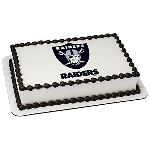 NFL Oakland Raiders Licensed Edible Sheet Cake Topper #4579 -