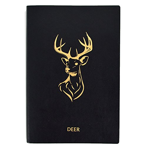 Monique A5 PU Leather Hardcover Notebook Retro Deer Embossed Business Notebook Personal Dairy Book Travel Journal Writing 1853 -