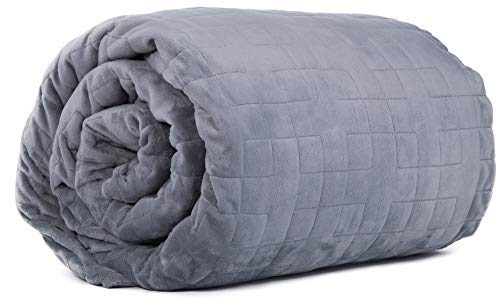 - Class Cotton Weighted Blanket Cover for Adults and Kids | Removable and Washable Duvet Cover for Bedding Blanket | Ultra-Soft Quilted Minky Cover | 60