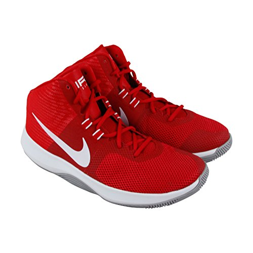 Nike Mens Air Precision Basketball Shoe University Rood Wit