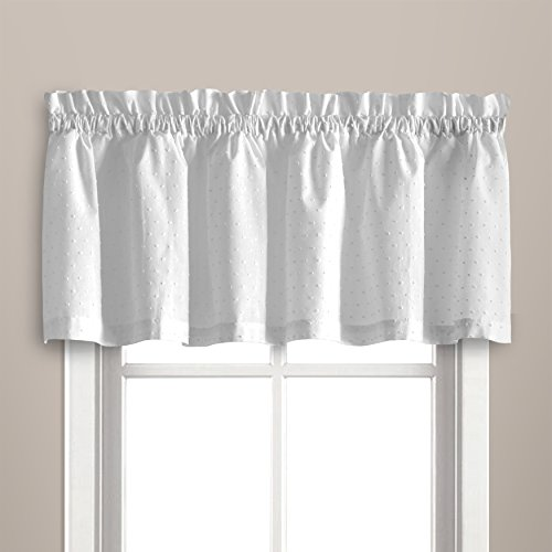 - United Curtain Dorothy Window Curtain Swiss Dot VALANCE, 54 by 14