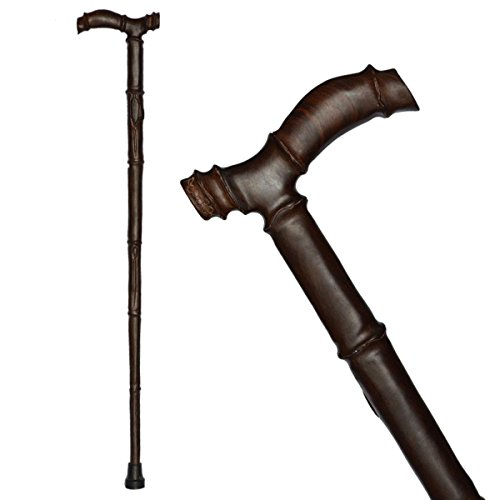 Crutch Sticks With Mahogany Solid Wood Old Cane Carving cane Walking Cane by jiaminmin