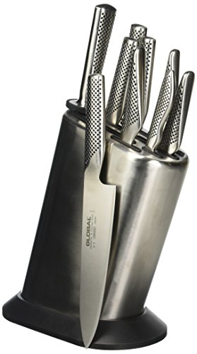Global G-88/101ST Block-Knife-Sets, Silver