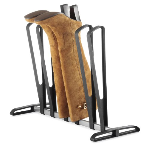 Whitmor 3-Pair Boot Rack Black (Short Entertainment Stand)