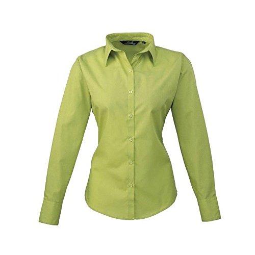 Poplin Workwear Camicia Ladies Lime Long Blouse Donna Premier Sleeve q7xA4Bwxz