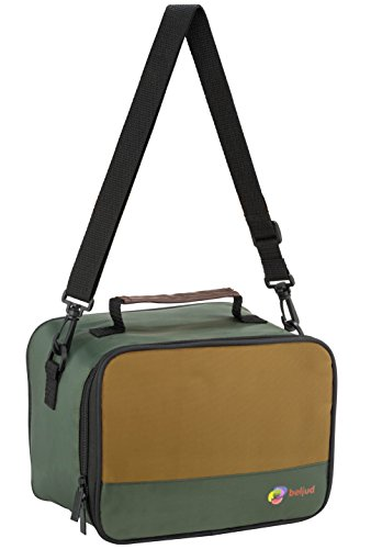 beljud Designer Lunch Bag - Insulated Cooler Bag for Adults BONUS 2 Quality Leak-Proof Containers Included - Khaki Green/Brown